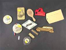 Assorted Celluloid Advertising Items