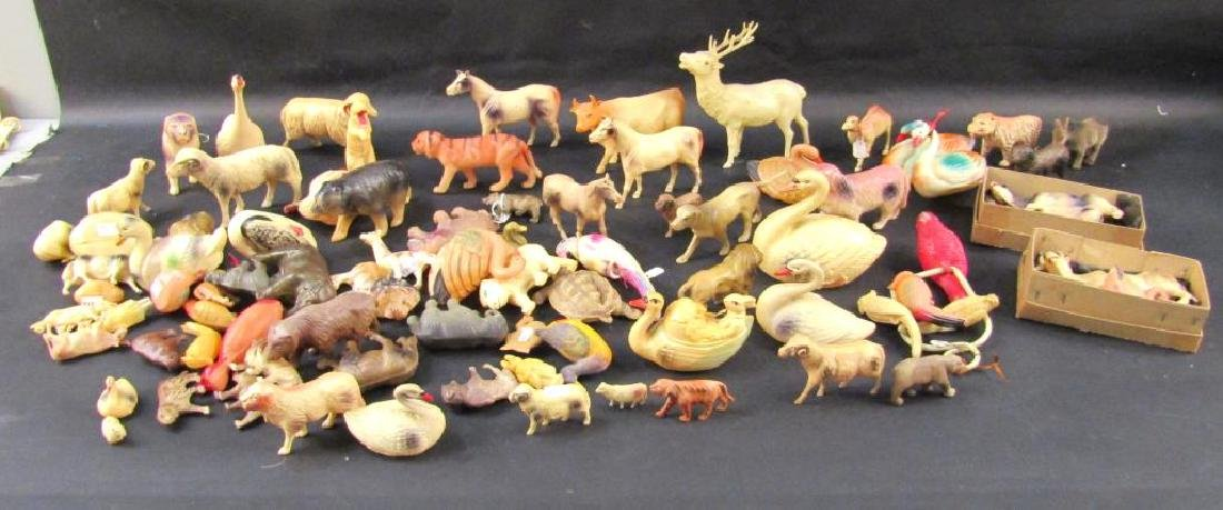Large Collection Celluloid Animals