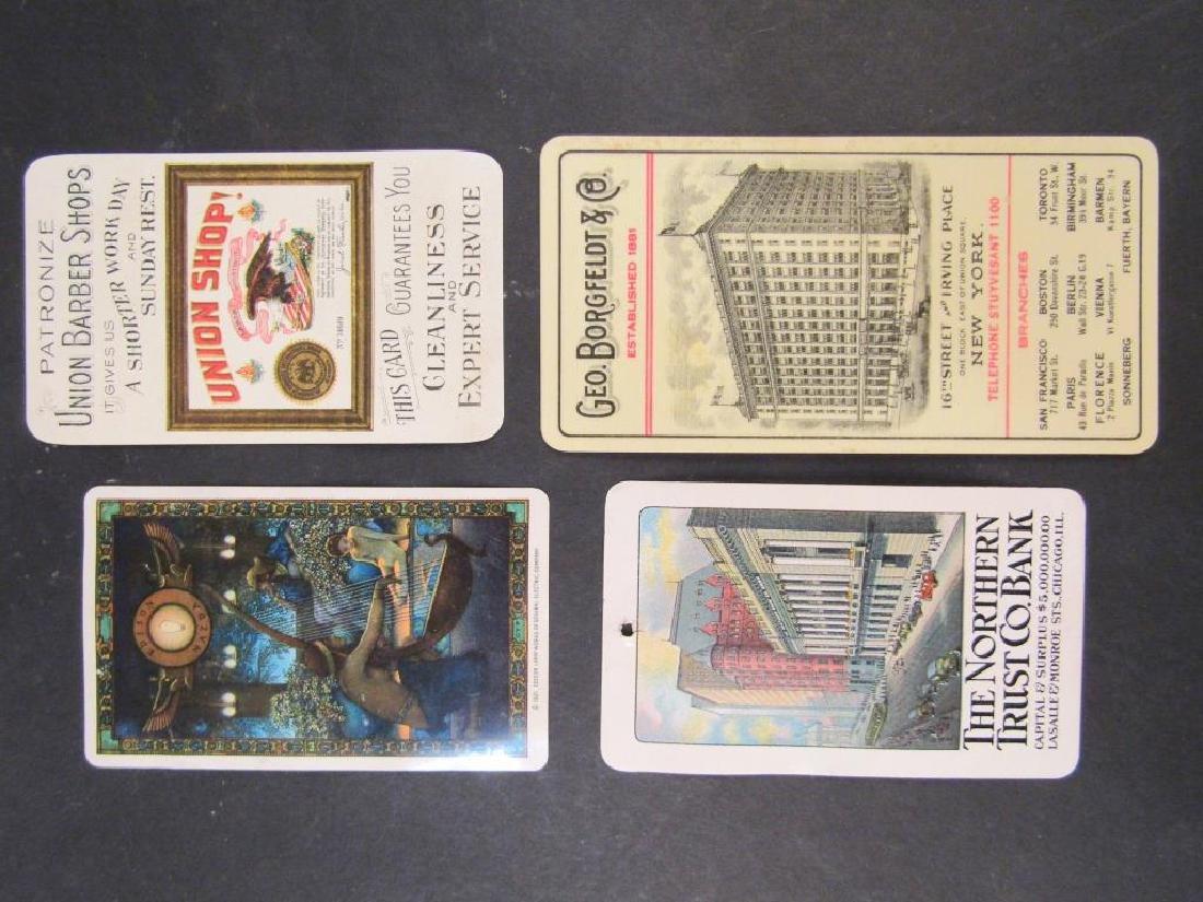 4 Celluloid Advertising Calendar Cards