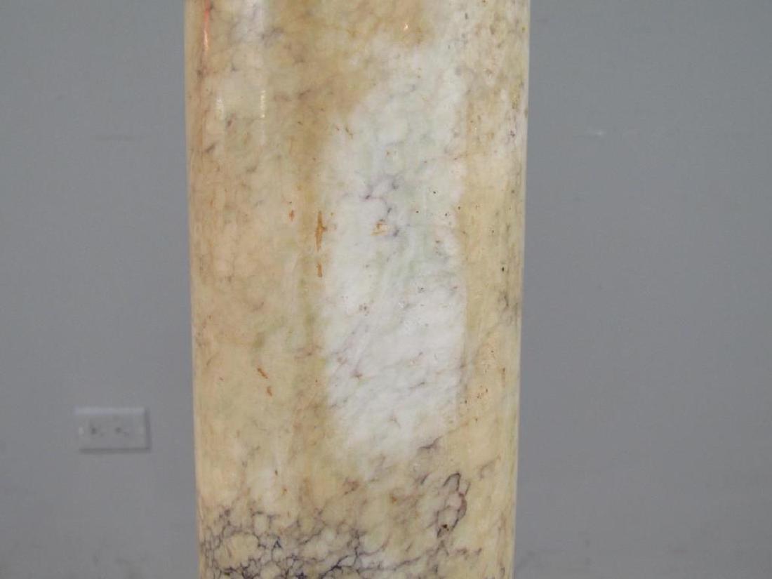 Italian Marble Pedestal Mounted as a Floor Lamp - 10
