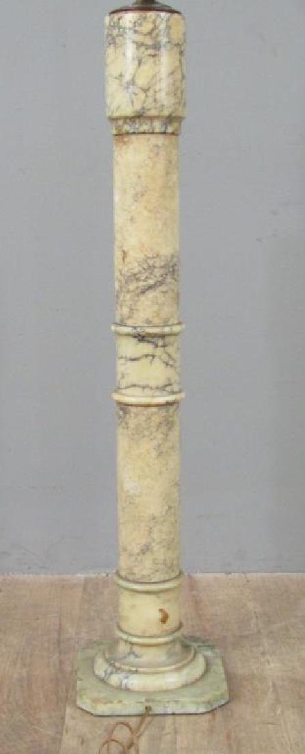 Italian Marble Pedestal Mounted as a Floor Lamp - 3