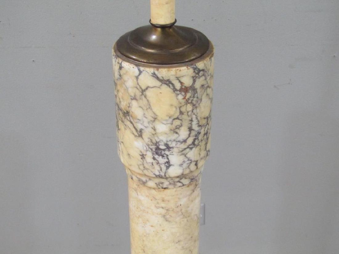 Italian Marble Pedestal Mounted as a Floor Lamp - 6