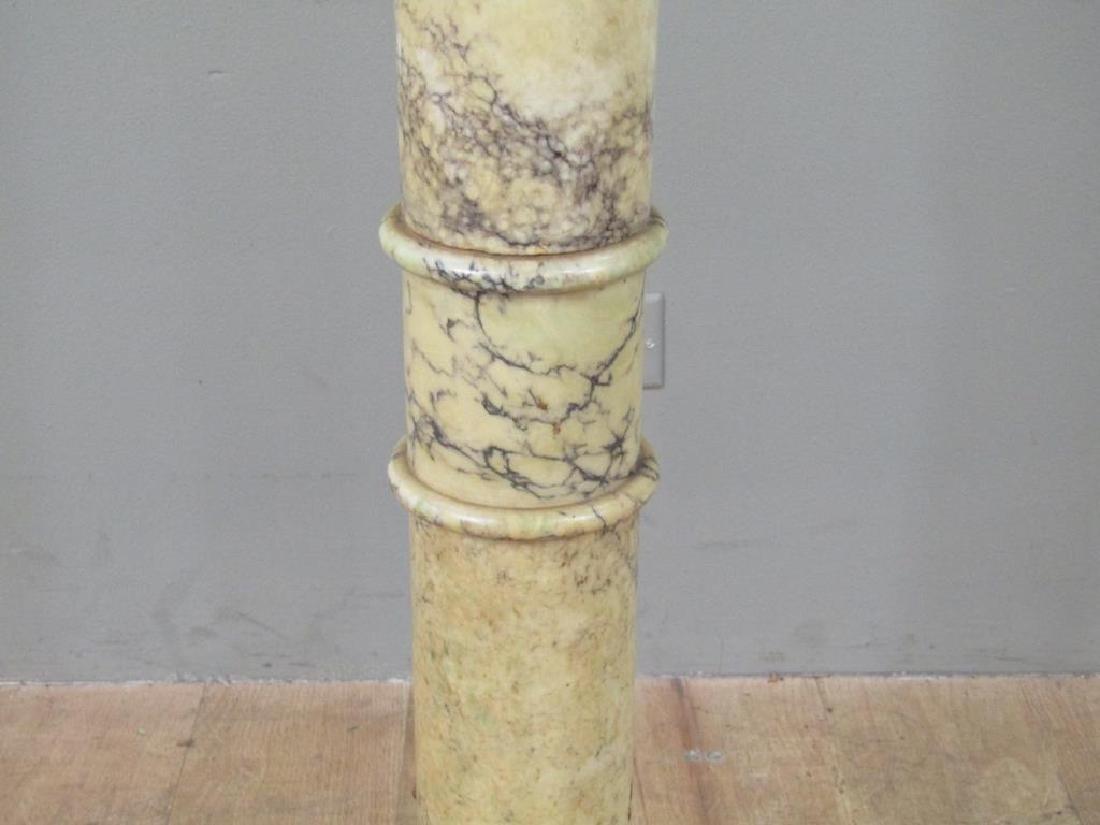 Italian Marble Pedestal Mounted as a Floor Lamp - 7