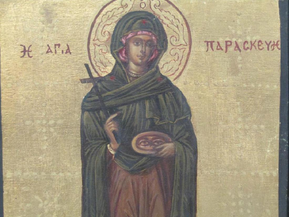 6 Greek Painted Wood Icons - 3