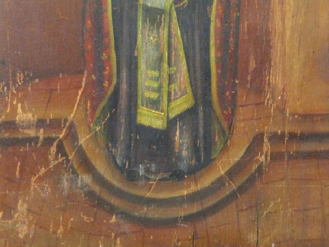 Greek Painted Wood Icon - 3