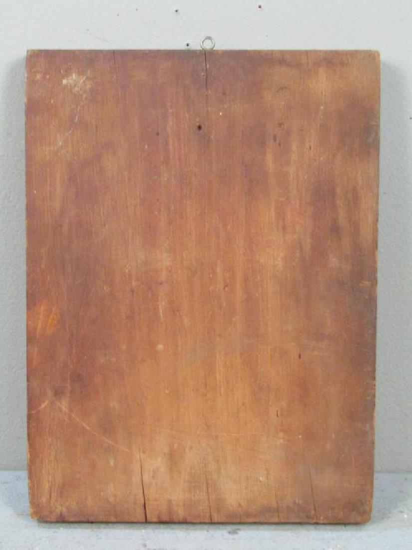 Greek Painted Wood Icon - 4