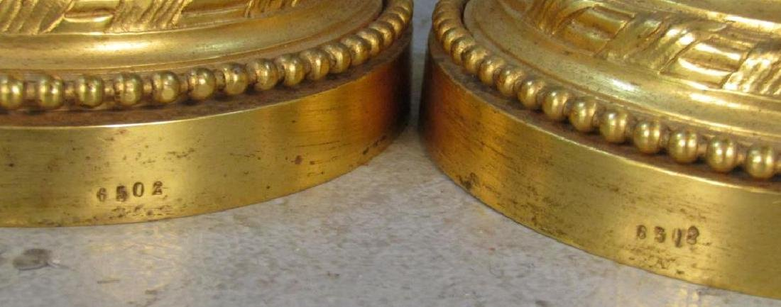 Pair French Gilt Bronze Candlesticks - 6