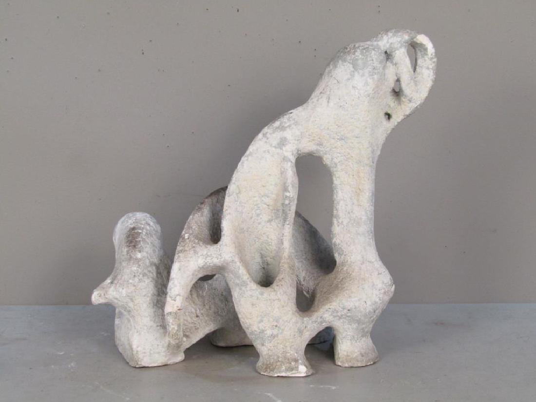 Unsigned - Plaster Abstract Sculpture