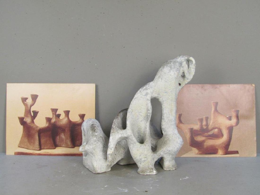 Unsigned - Plaster Abstract Sculpture - 5
