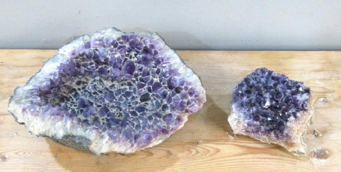 2 Large Amethyst Geodes