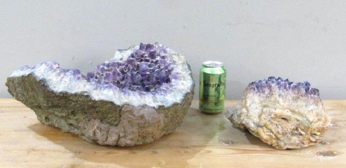 2 Large Amethyst Geodes - 5