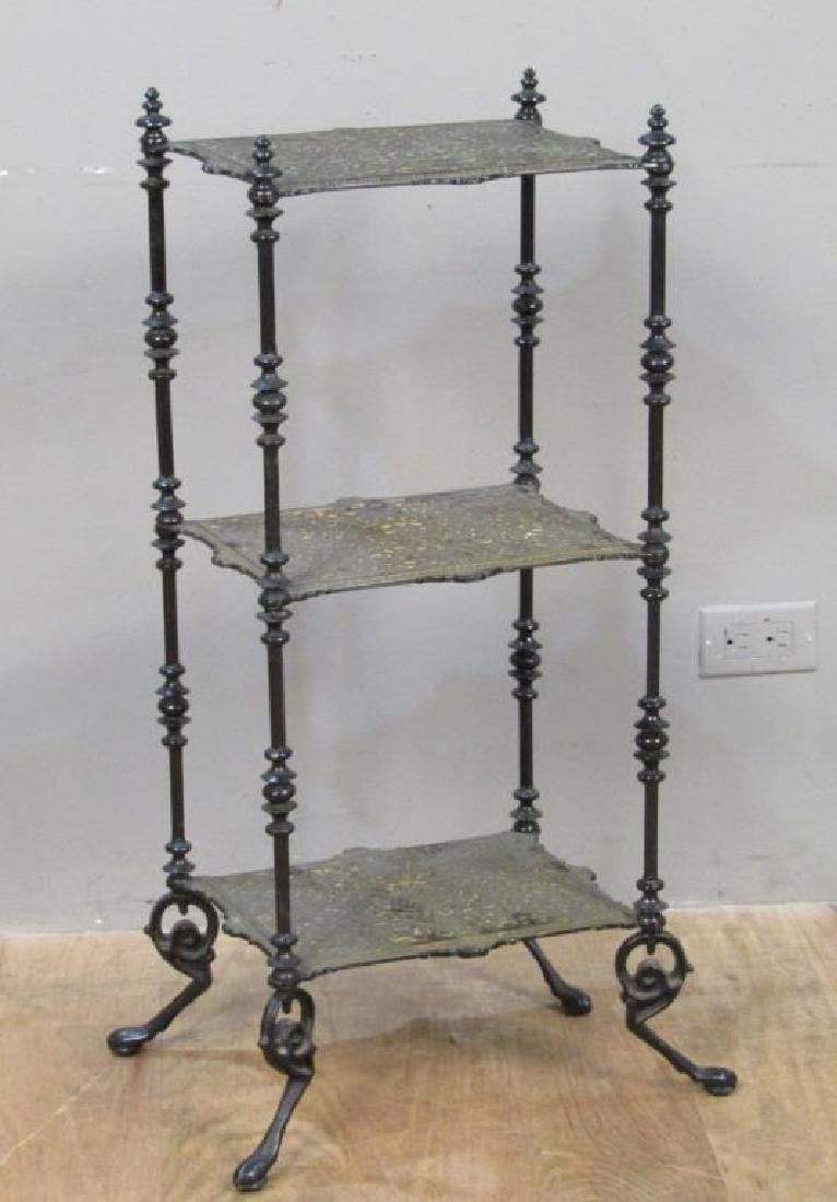 Painted Metal 3 Tier Whatnot / Etagere
