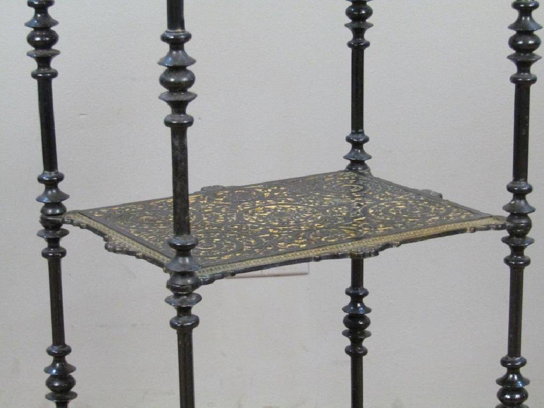 Painted Metal 3 Tier Whatnot / Etagere - 3