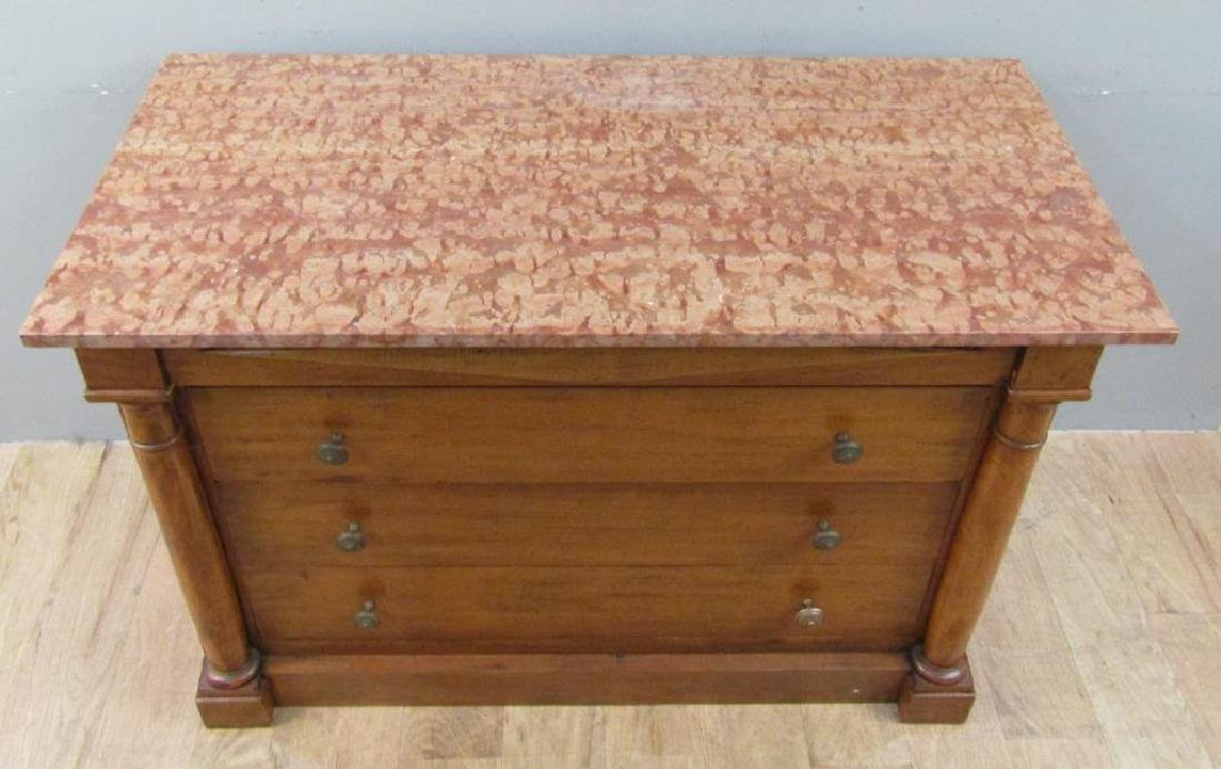 Italian Marble Top 4 Drawer Chest - 2