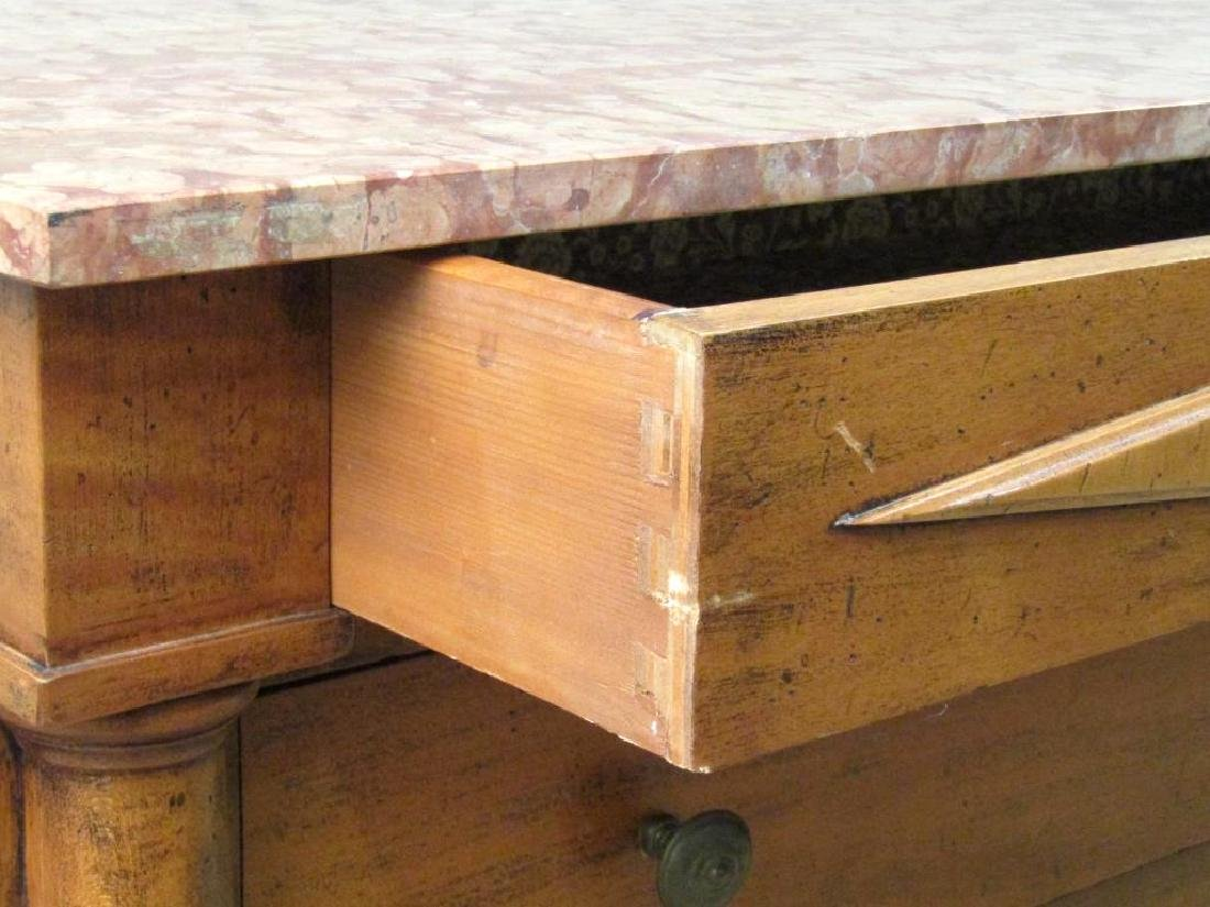 Italian Marble Top 4 Drawer Chest - 3
