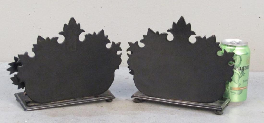Pair Victorian Papier-Mache Letter Holders - 2