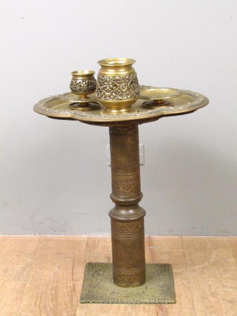 Art Deco Brass Side Stand