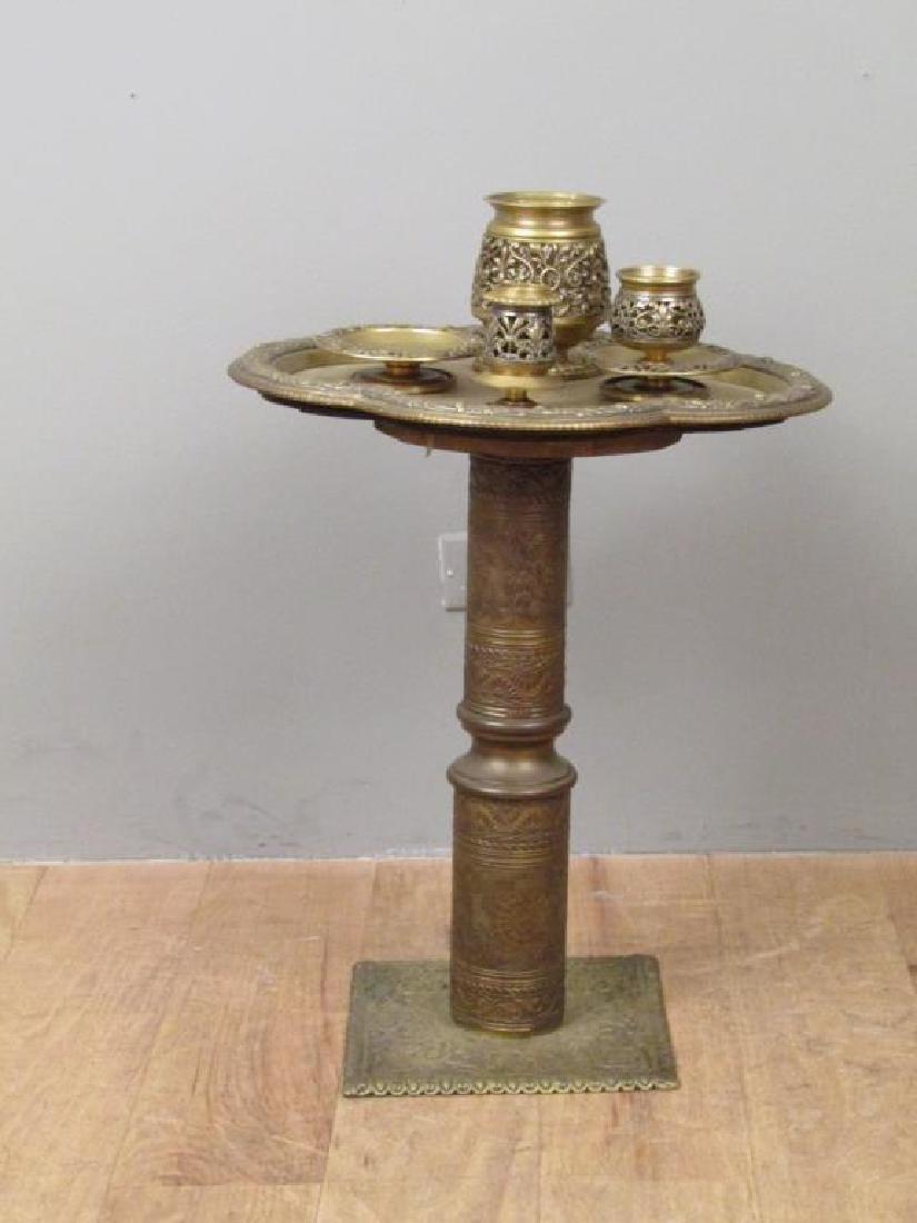 Art Deco Brass Side Stand - 2