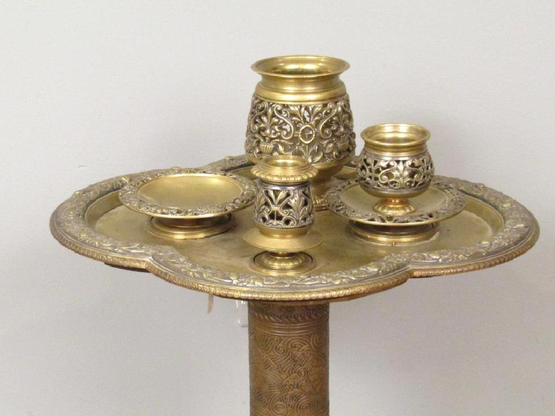 Art Deco Brass Side Stand - 3