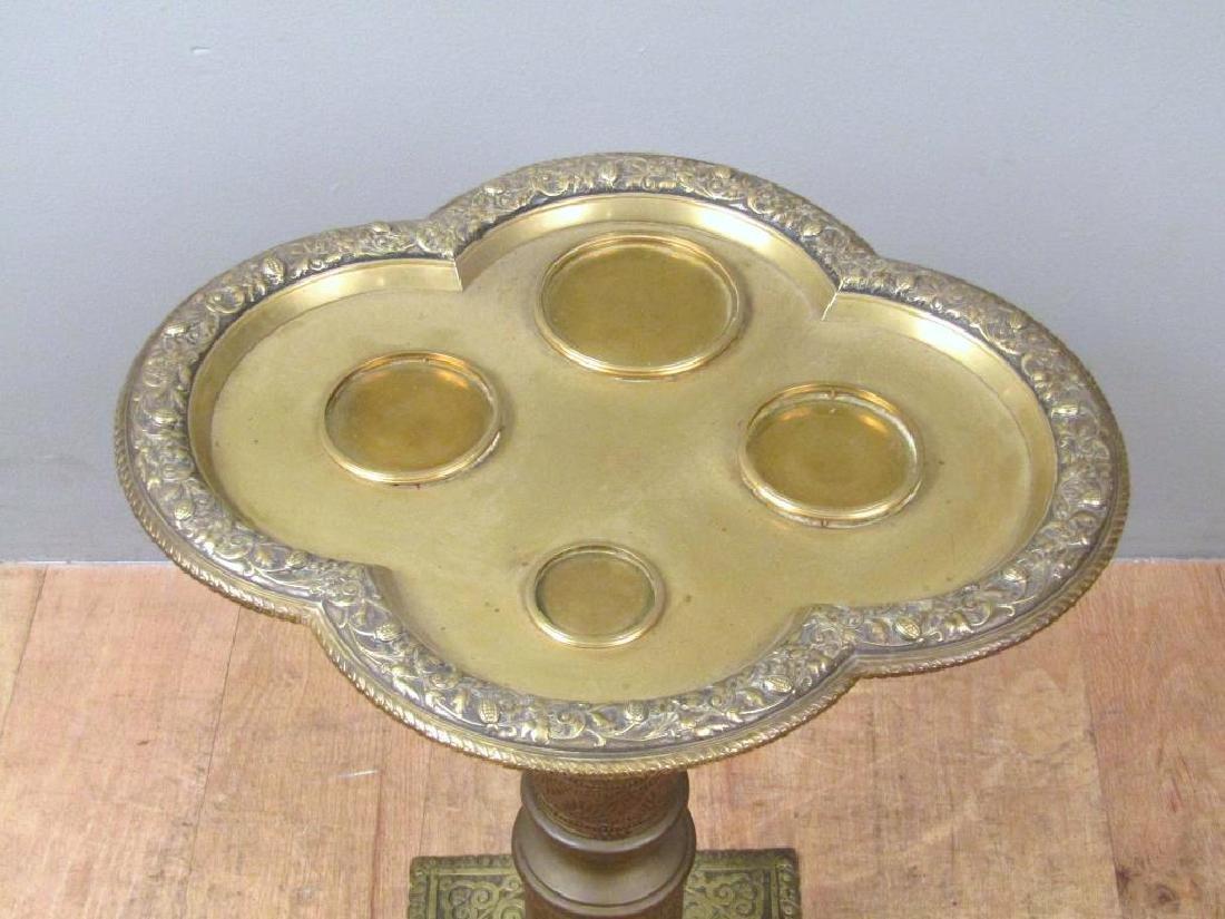 Art Deco Brass Side Stand - 4