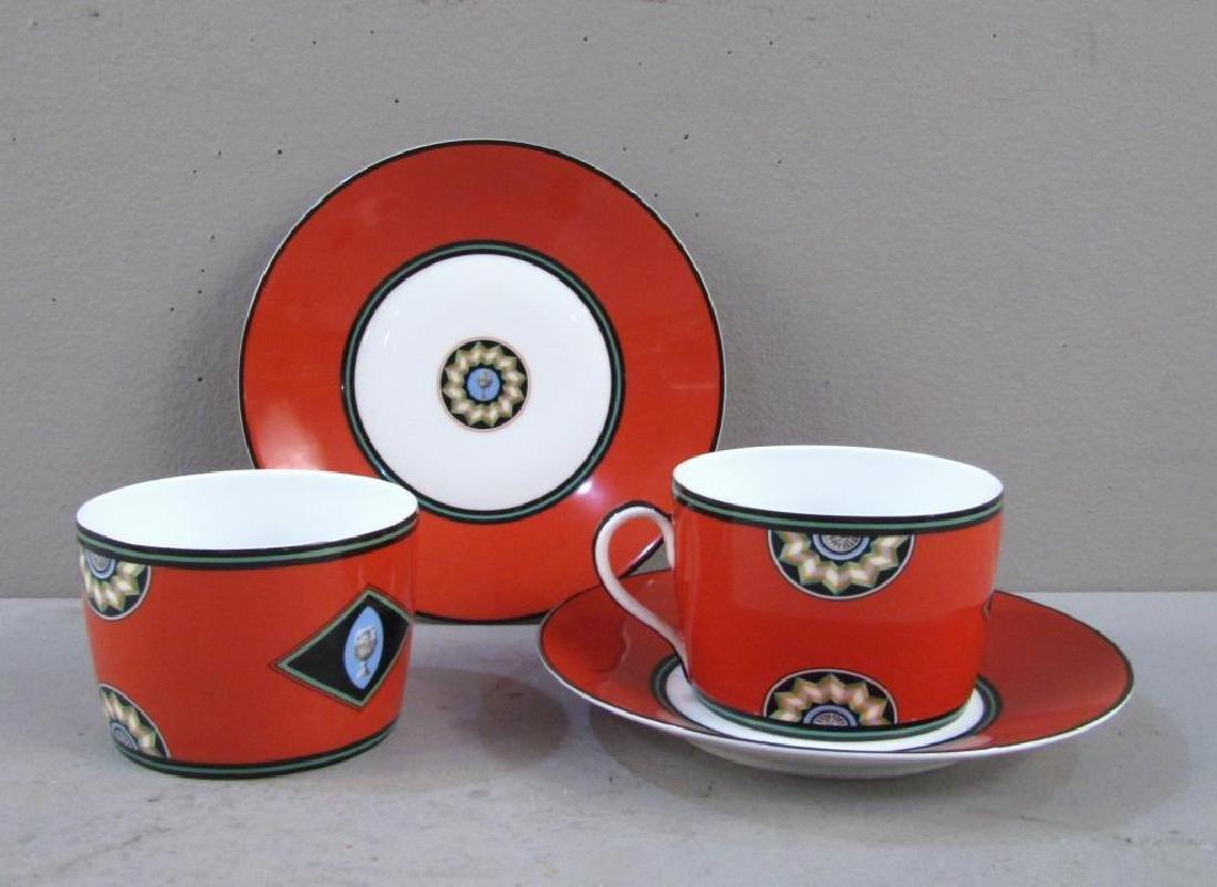 Pair Puiforcat Cups and Saucers