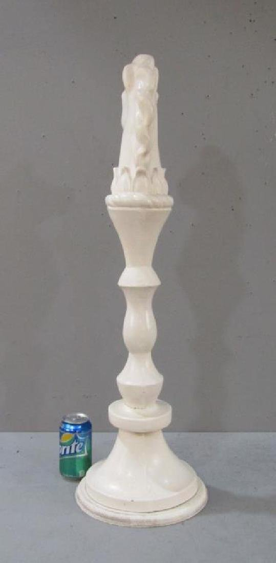 Painted Carved Horse Head Post - 3