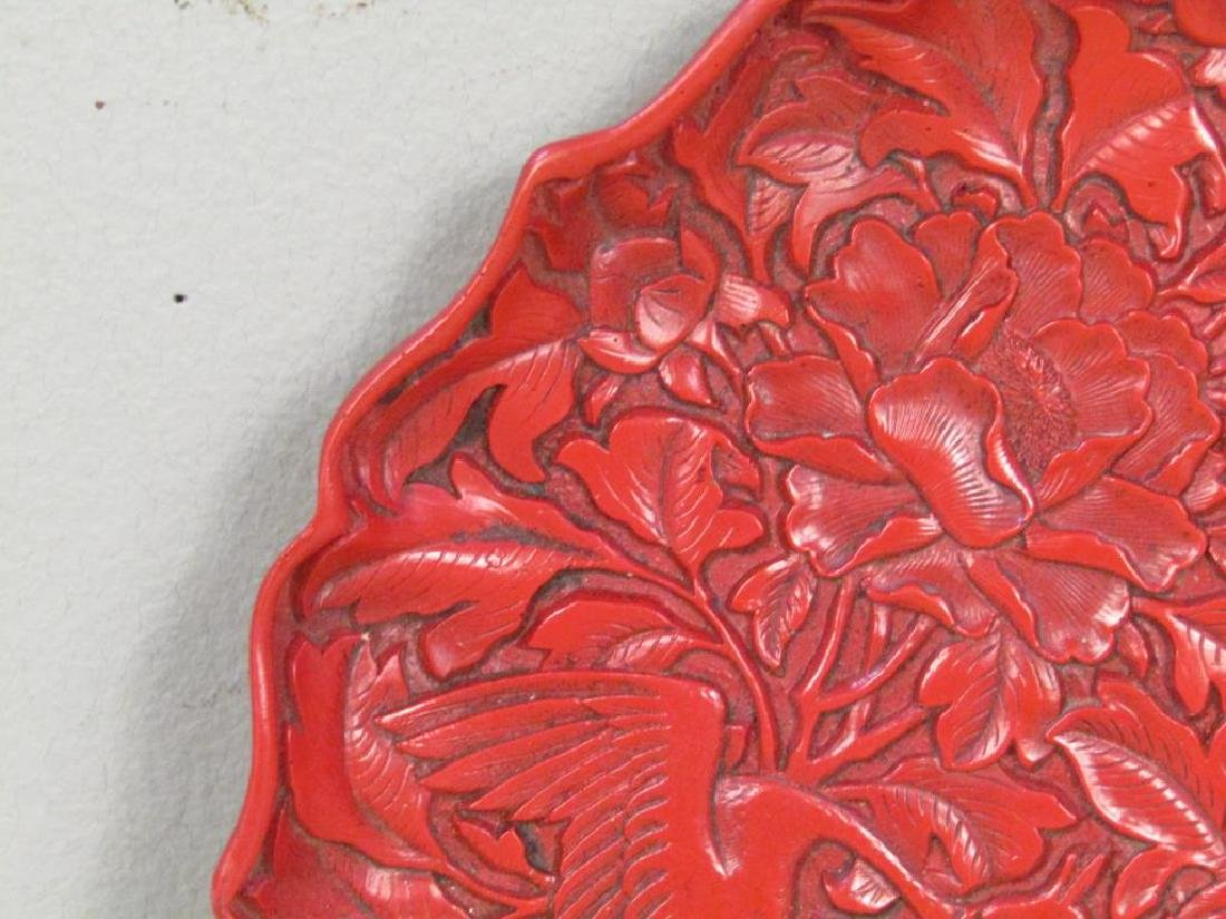 Faux Cinnabar Plate and 2 Figures - 3