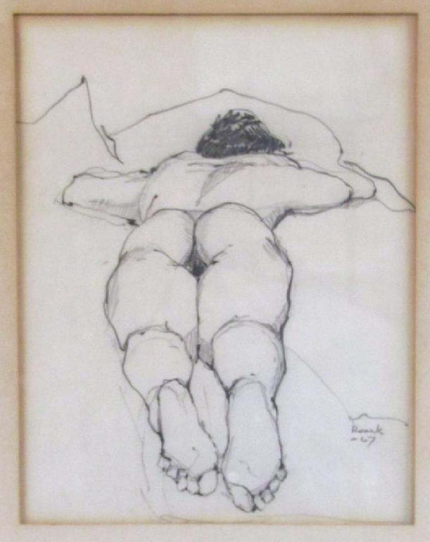 Signed Roark - Pencil on Paper