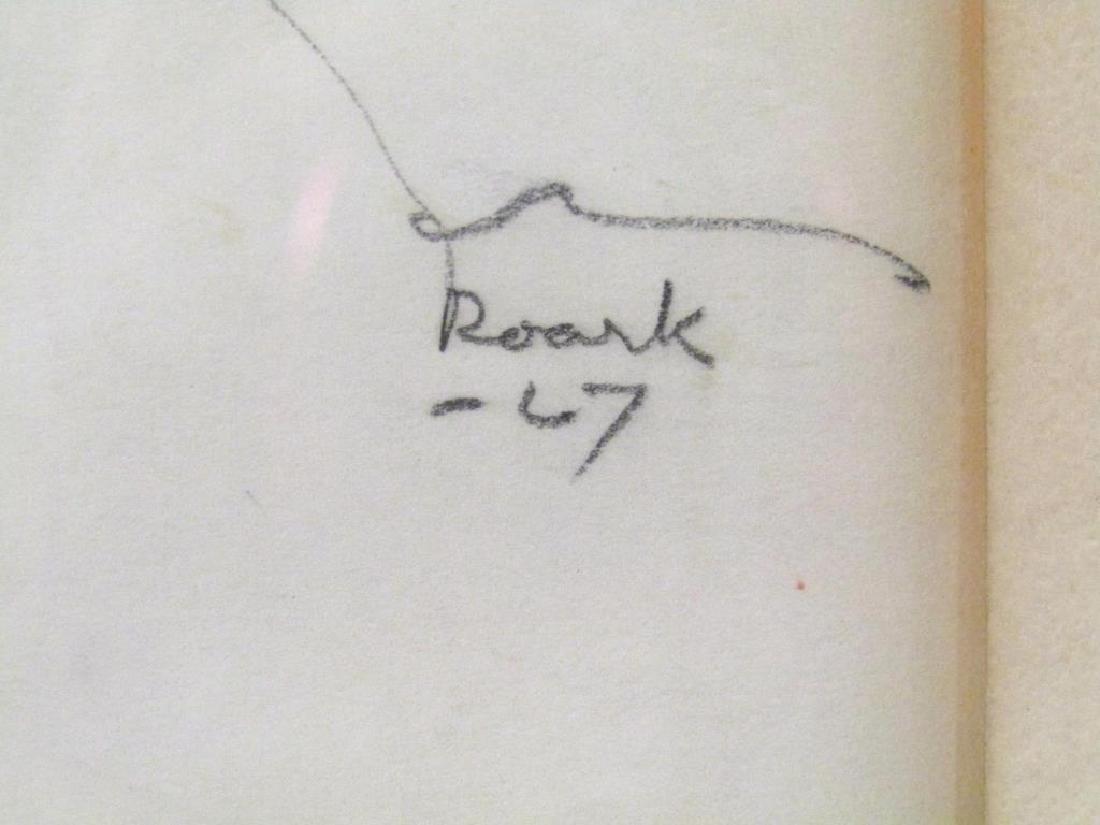 Signed Roark - Pencil on Paper - 5