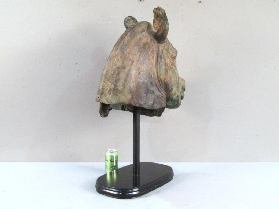 Large Bronze Archaic Style Horse Head - 3