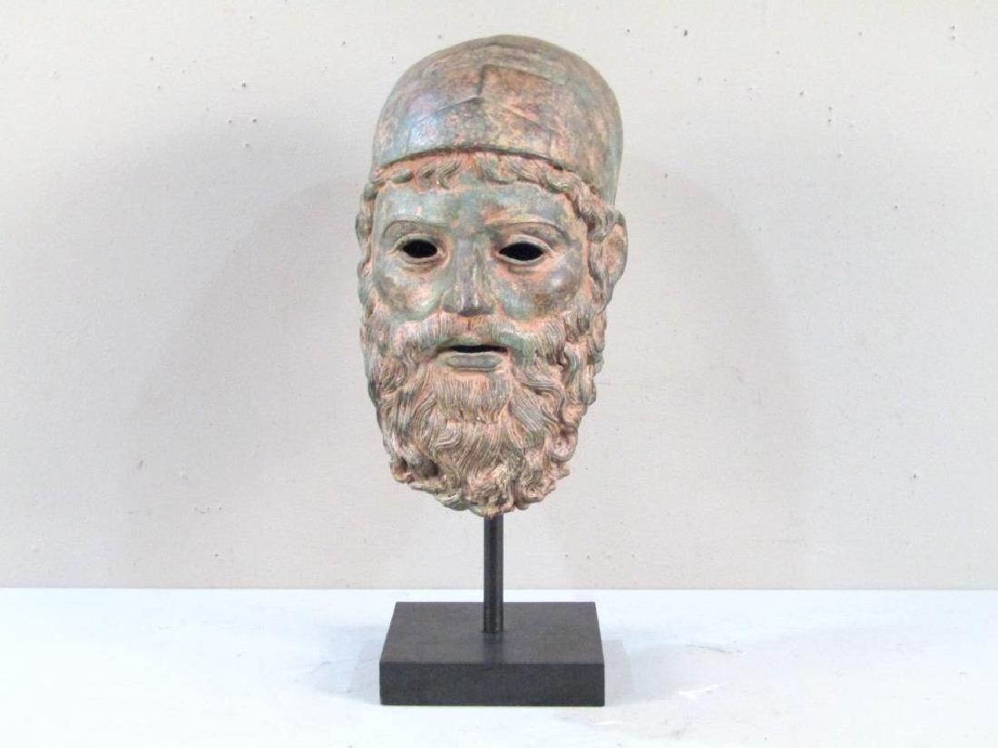 Archaic Style Bronze Head