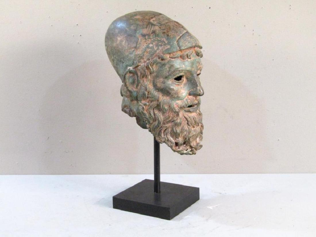 Archaic Style Bronze Head - 2