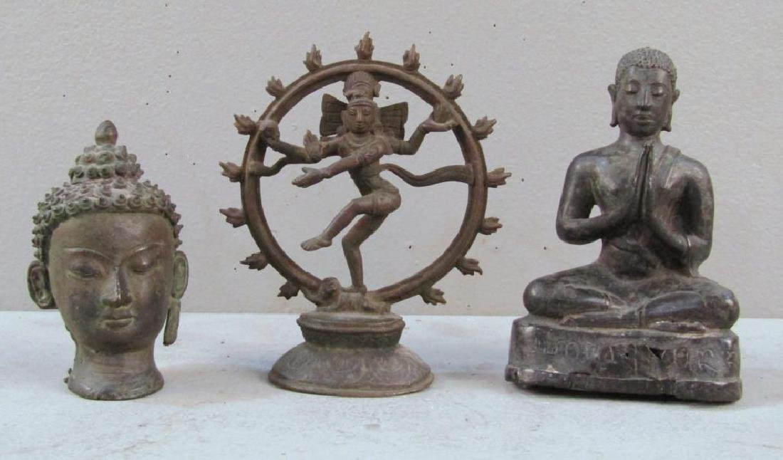 3 Far Eastern Bronze Statues