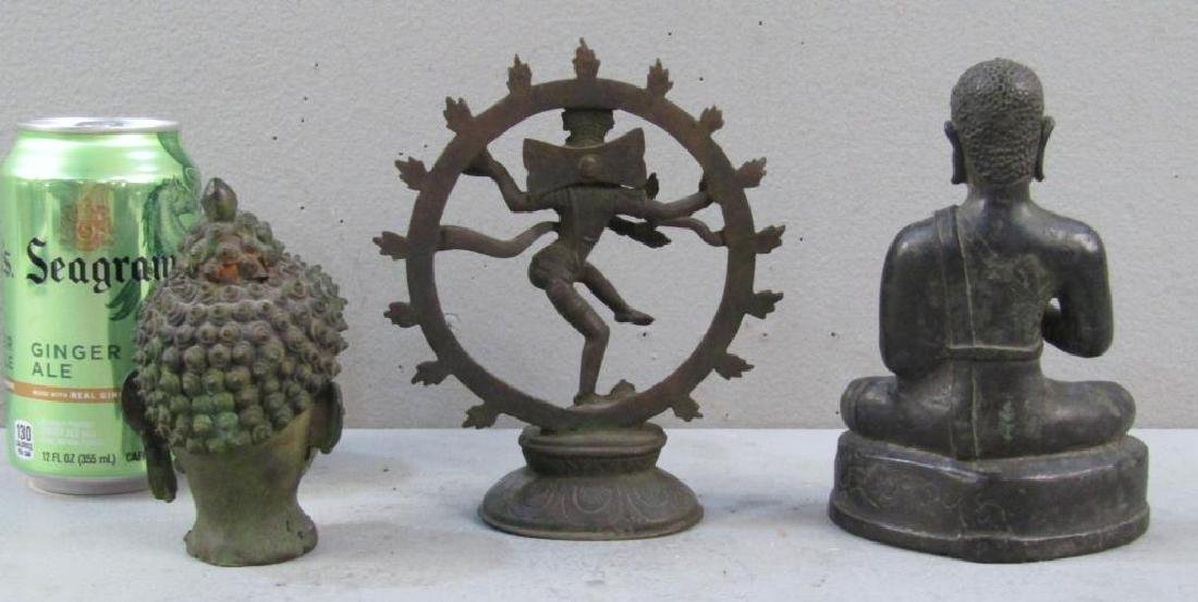 3 Far Eastern Bronze Statues - 2