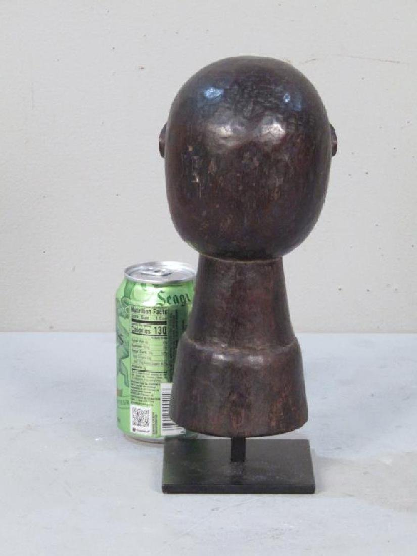 Ethnic Carved Wood Bell / Head - 2