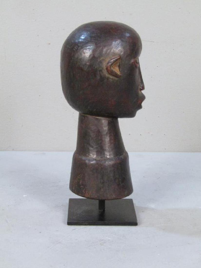 Ethnic Carved Wood Bell / Head - 3