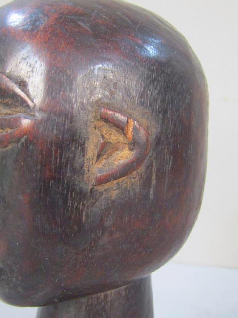 Ethnic Carved Wood Bell / Head - 5