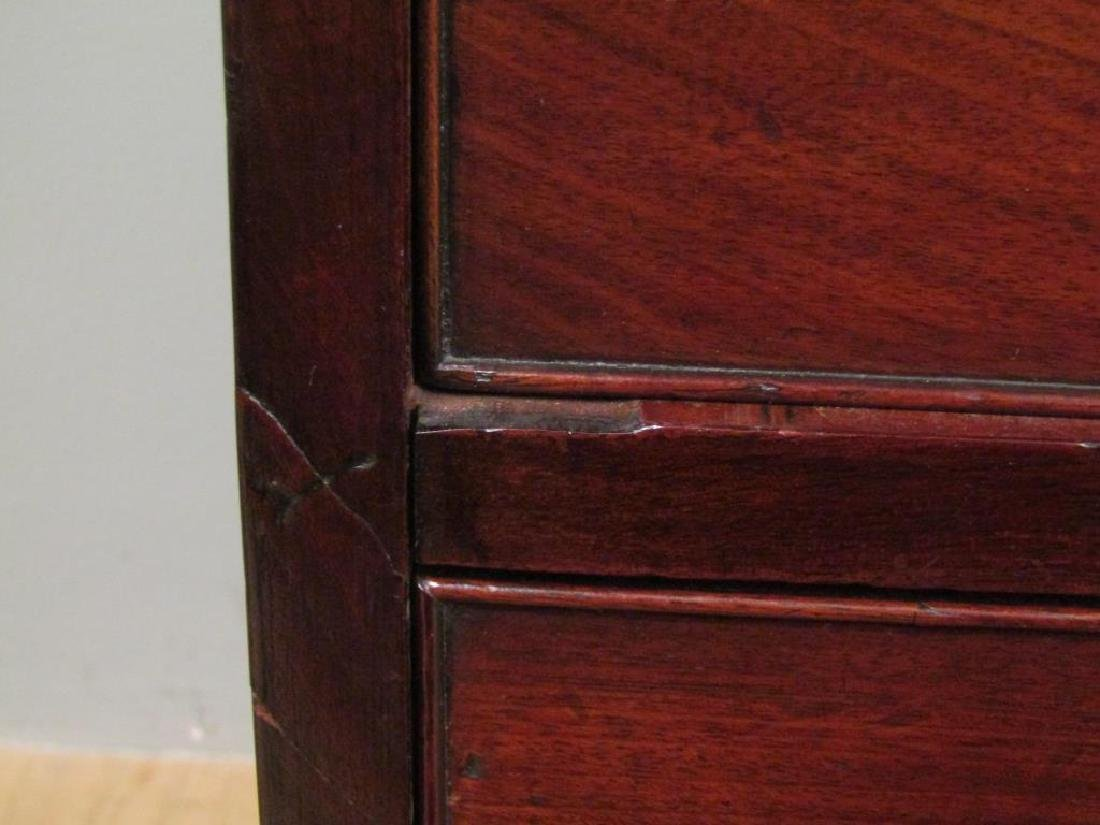 Antique English Mahogany Secretary Bookcase - 5
