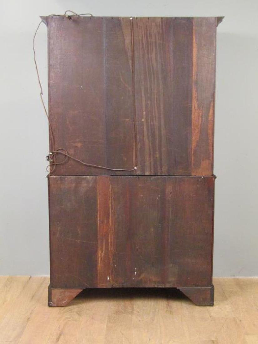 Antique English Mahogany Secretary Bookcase - 6