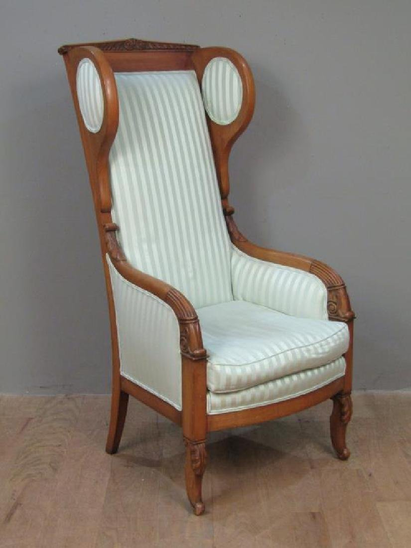 Neo-Classical Style Library Arm Chair