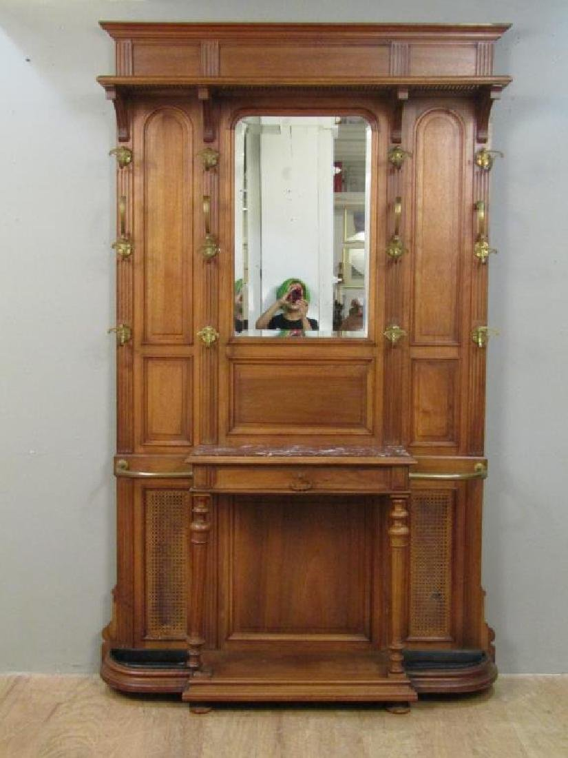 French Victorian Tall Hall Stand