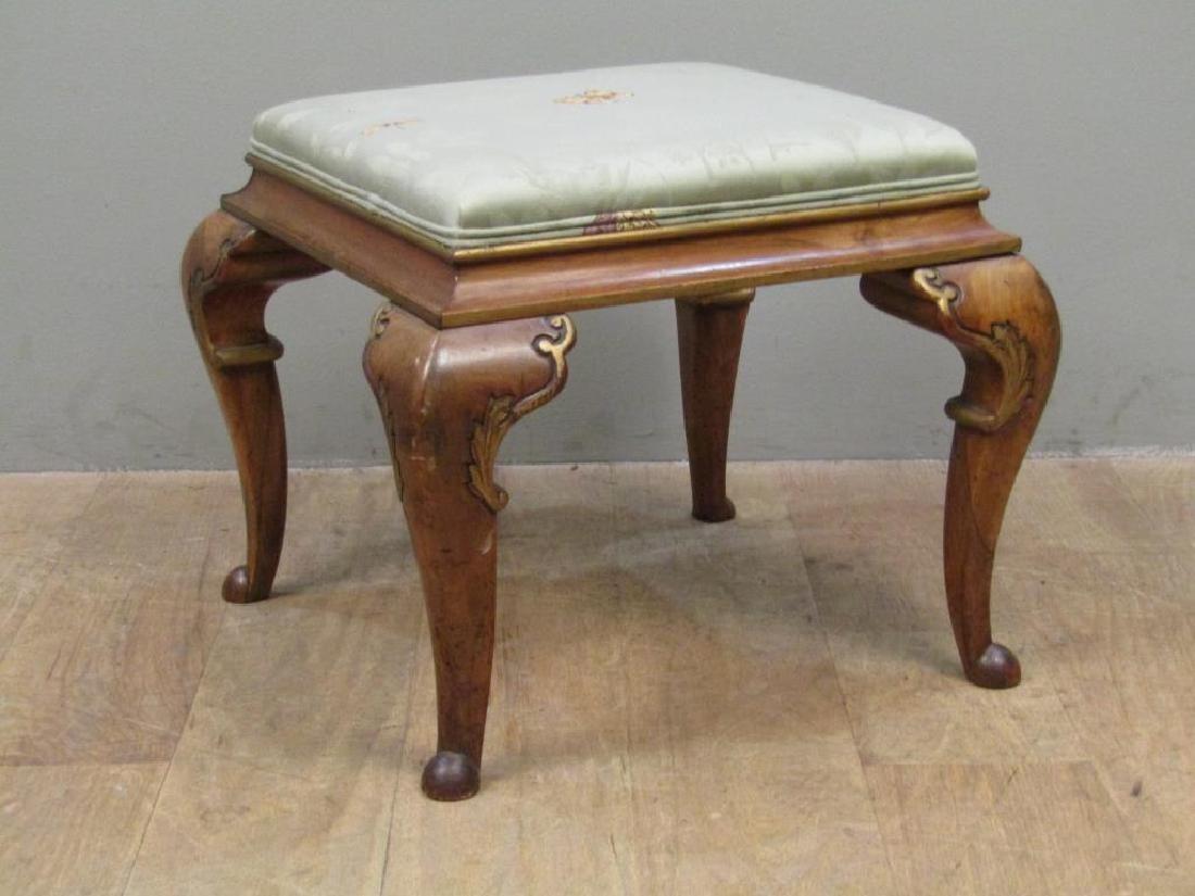 Pair Georgian Style Upholstered Stools - 5