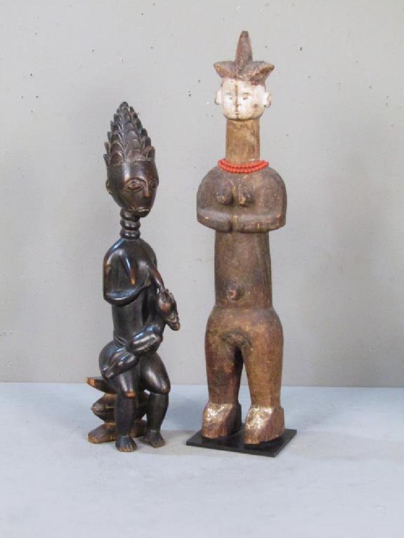 2 Ethnic Carved Fertility Figures