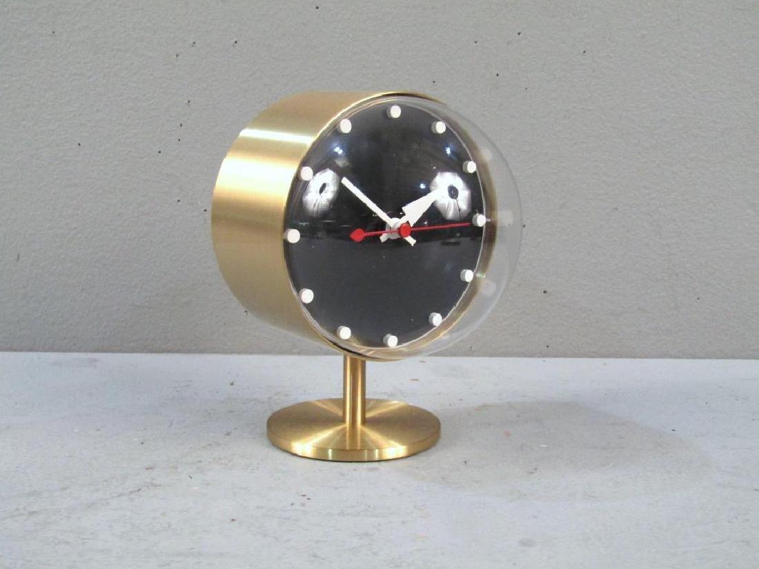 George Nelson / Vitra Brass Desk Clock - 2