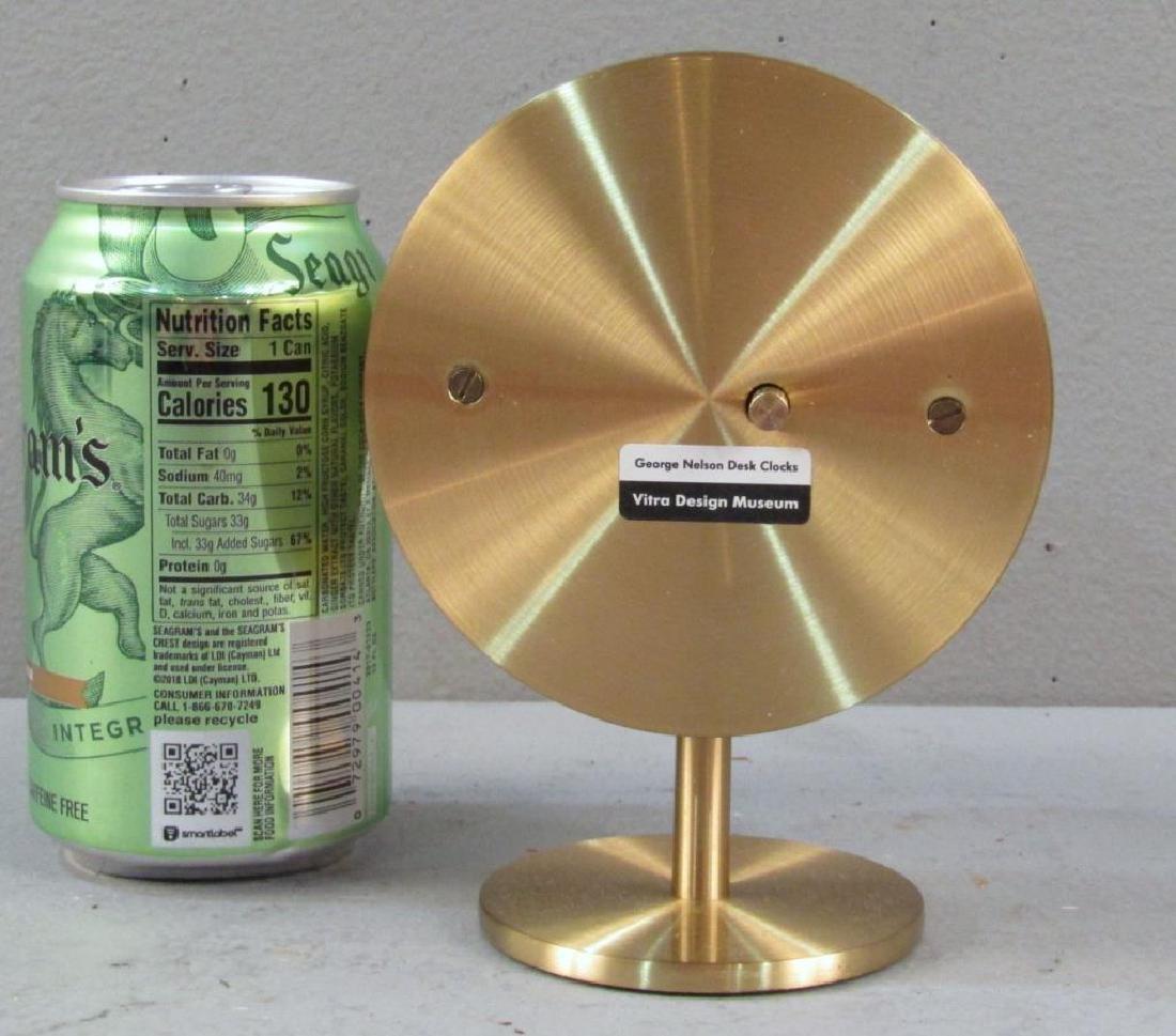 George Nelson / Vitra Brass Desk Clock - 3
