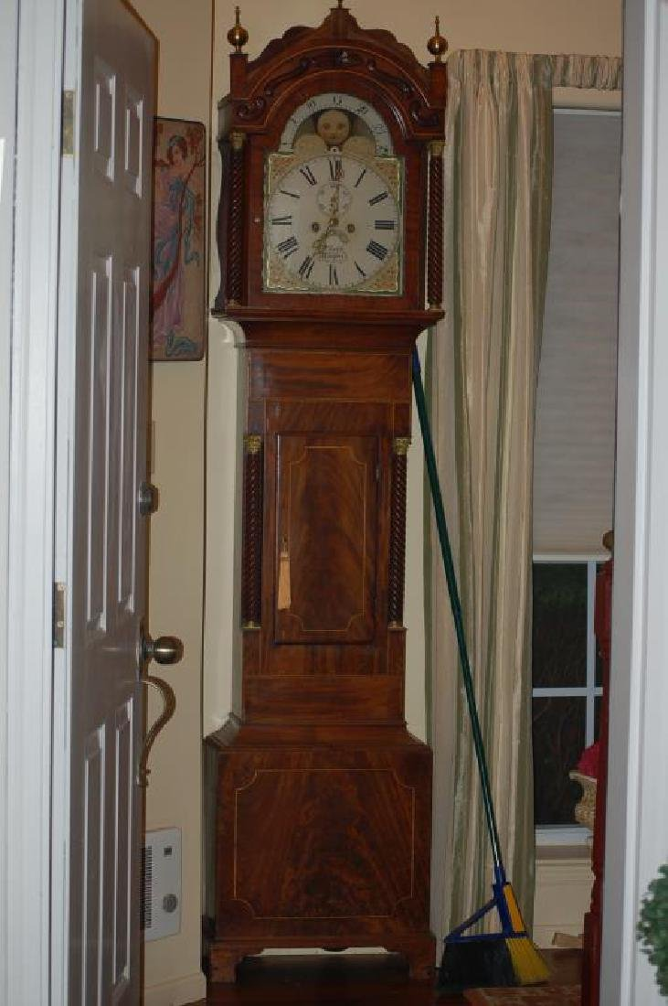 English Tall Case Clock by William Latch