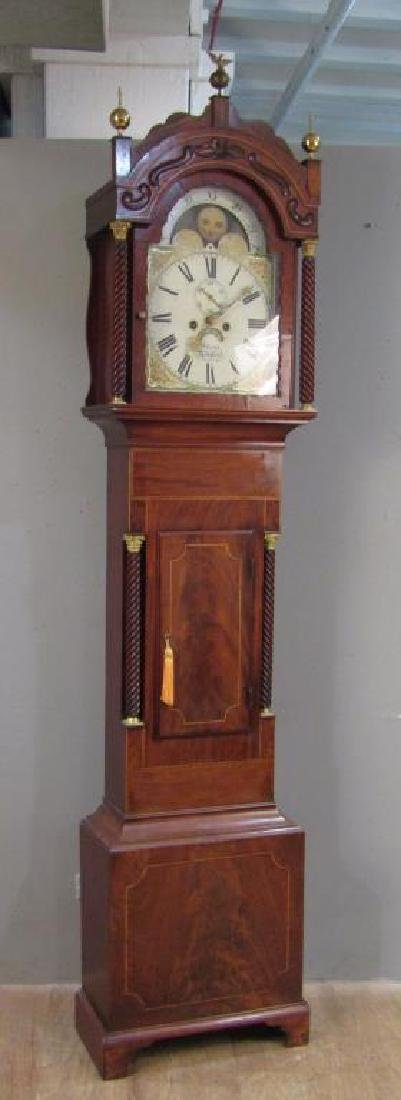 English Tall Case Clock by William Latch - 4