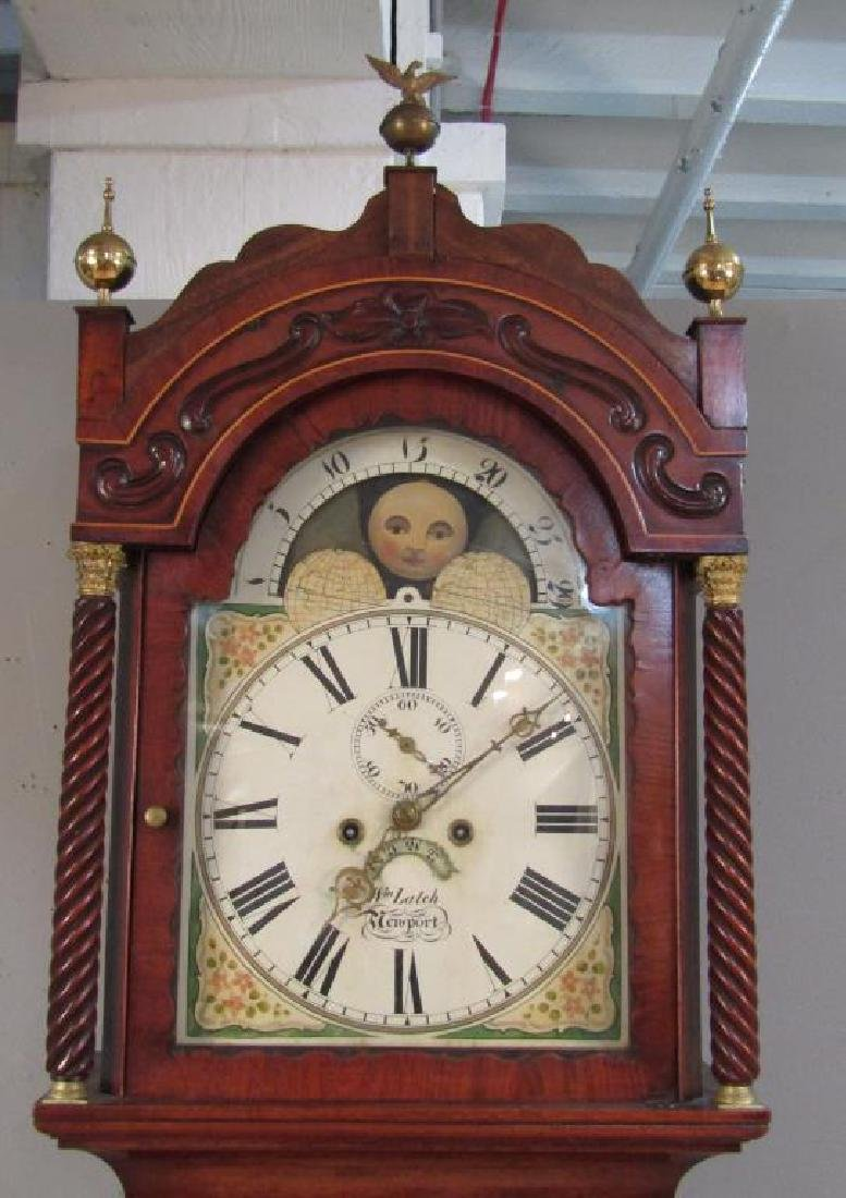 English Tall Case Clock by William Latch - 5