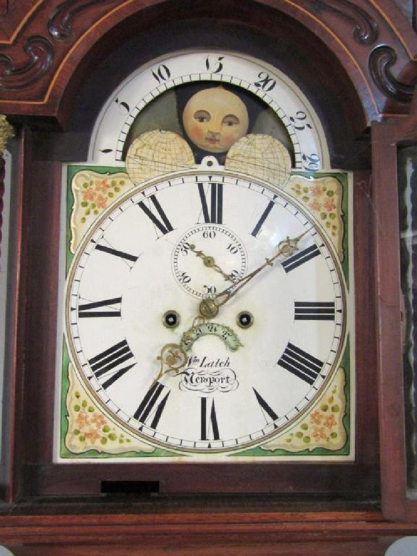 English Tall Case Clock by William Latch - 8