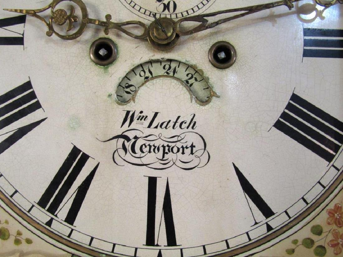 English Tall Case Clock by William Latch - 9